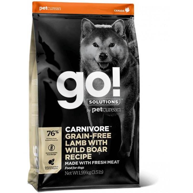 GO! Solutions Carnivore Grain Free Lamb + Wild Boar Recipe 1.6kg