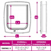 Ferplast SWING 3 Πόρτα